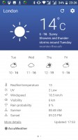 Weather app - Nokia 6 review