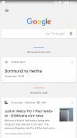 Google Now panel - Nokia 8 review