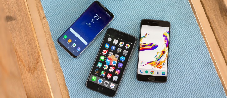 OnePlus 5 vs. Galaxy S8 vs. iPhone 7 Plus