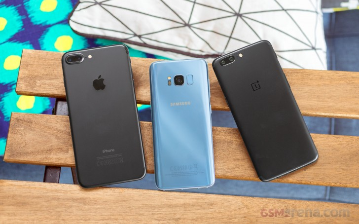 OnePlus 5 vs. iPhone 7 Plus vs. Samsung Galaxy S8