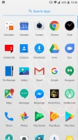 OnePlus 5 user interface: App drawer - OnePlus 5 vs. iPhone 7 Plus vs. Samsung Galaxy S8