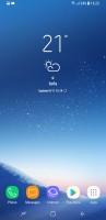 Samsung Galaxy S8 user interface: Homescreen - OnePlus 5 vs. iPhone 7 Plus vs. Samsung Galaxy S8