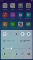 the control center - Oppo R11 preview
