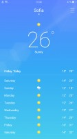 The Weather app is powered by AccuWeather - Oppo R11 review