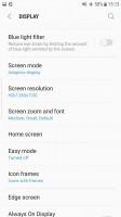 Display resolution setting - Samsung Galaxy S7 Edge Nougat review