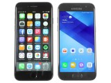 Samsung Galaxy A3 (2017) vs. Apple iPhone 7, a size comparison - Samsung Galaxy A3 (2017) review
