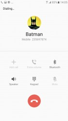 In-call screen - Samsung Galaxy A3 (2017) review