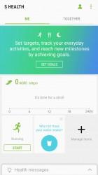 S Health: Main screen - Samsung Galaxy A3 (2017) review
