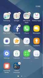 Organizing apps - Samsung Galaxy A3 (2017) review
