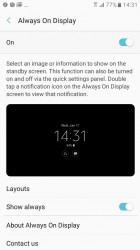 Always On Display settings - Samsung Galaxy A3 (2017) review