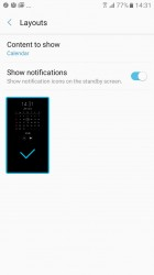 Always On Display: Calendar - Samsung Galaxy A3 (2017) review