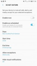 Do not disturb settings - Samsung Galaxy J5 (2017) review