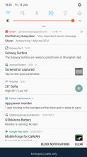 Notification shade - Samsung Galaxy J7 (2017) review