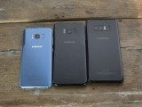 The Galaxy Note8 next to the S8+ and the S8 - Samsung Galaxy Note8 hands-on review