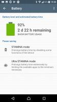 Stamina modes - Sony Xperia XA1 Ultra review