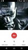 In-call screen - Sony Xperia XA1 Ultra review