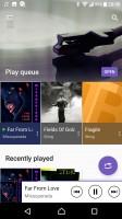 Music app - Sony Xperia XA1 Ultra review
