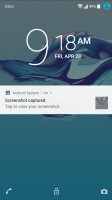 A notification - Sony Xperia XA1 review