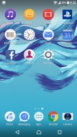 Homescreen - Sony Xperia XA1 review