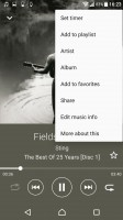 Music app - Sony Xperia XZ Premium review