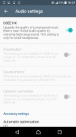 Audio settings - Sony Xperia XZ Premium review