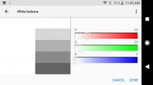 Custom white balance - Sony Xperia XZ1 review