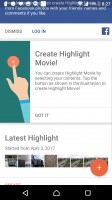 The Movie Creator can automatically or manually make shareable slideshows - Sony Xperia XZs review