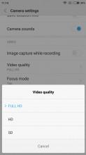 Camera settings - Xiaomi Redmi 4a review