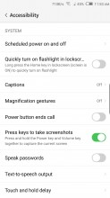 Accessibility options - Nubia Z17 review