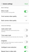 Camera settings - Nubia Z17 review