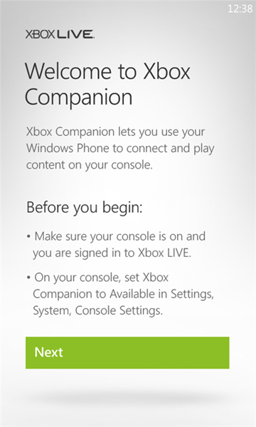 xbox companion screens
