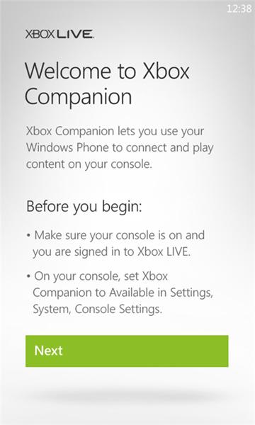 xbox companion screens