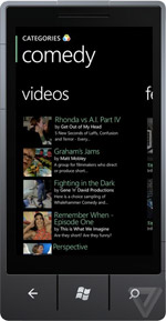 screens of Vimeo\'s official Windows Phone app