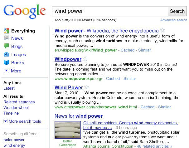 Google And Google Mobile Search Results Now With New Outfit