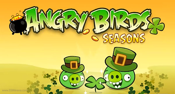 Angry Birds Seasons goes green for St. Patrick's day ...