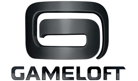 the black-on-white Gameloft logo 2011