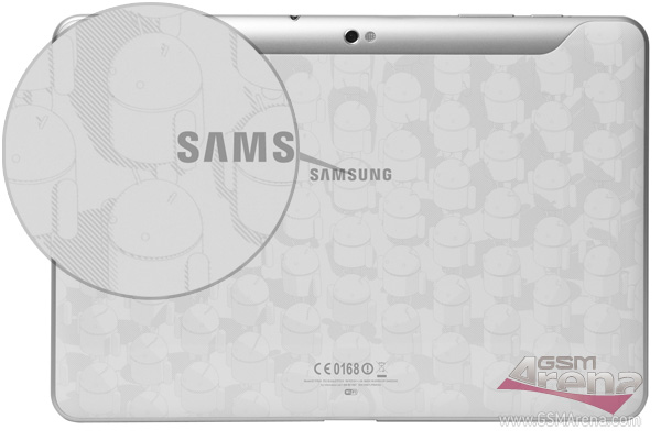 Shots showing the back of the Google I/O exclusive Samsung Galaxy 10.1 Tab with its white back