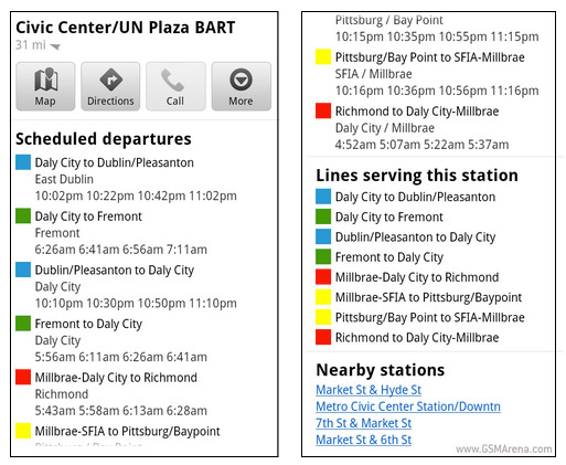updated transit screens