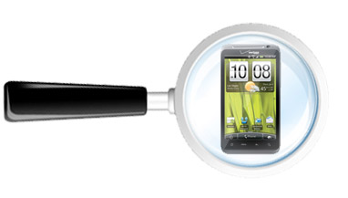 HTC Thunderbolt, magnifying glass