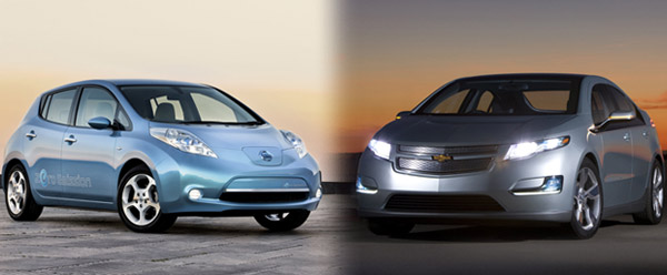 Nissan Leaf and Chevy Volt