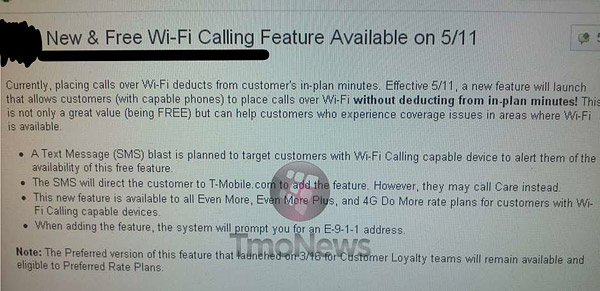 T-Mobile to re-release free Wi-Fi calling service