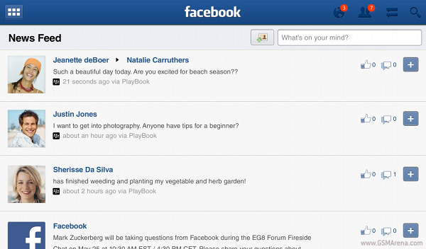 new and improved Facebook app