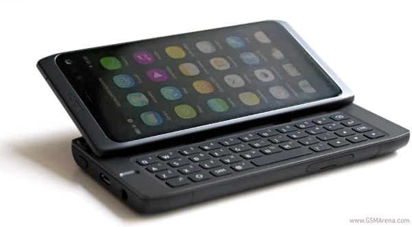 Nokia N950 open keyboard