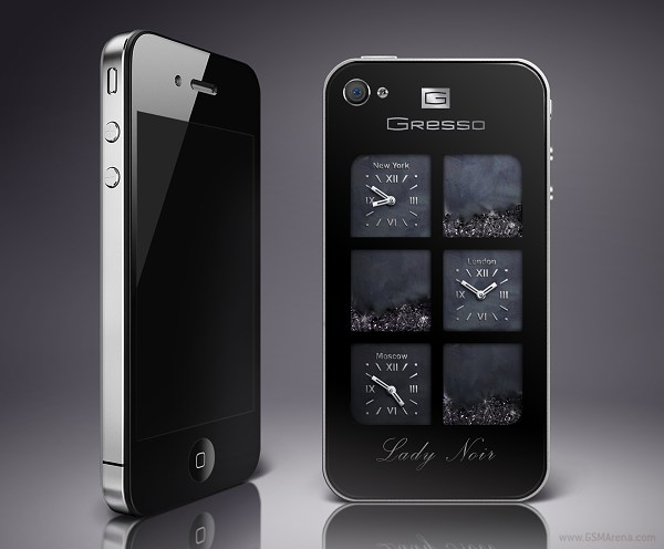 Gresso Unveils The Luxurious ArtPhone Lady Noir An IPhone 4 With Diamonds Or Swarovski Crystals