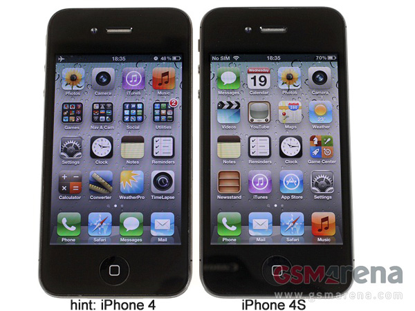 Image Gallery iphone 4 and 4s comparison