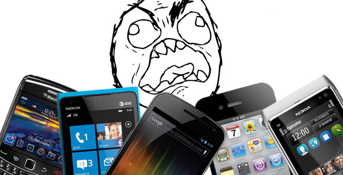 The smartphone stress 'look'