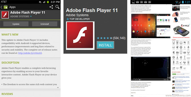 Скачать Adobe Flash Player 11.1.111.10Для Андроид 2.2.Х