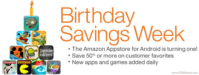 Amazon celebrate 1 year of the Appstore