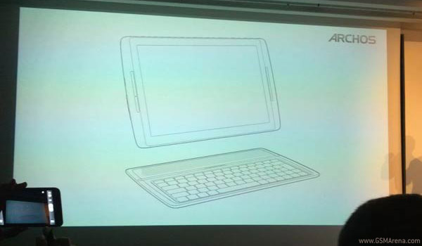 a line drawing of the soon to be announced Archos G10 xs