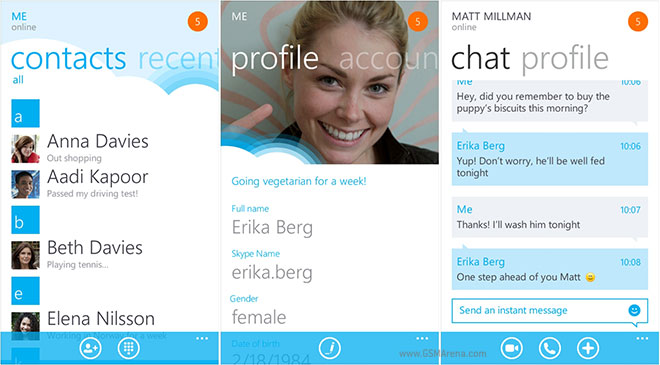 how to search contacts in skype